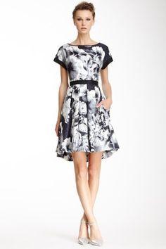 Flounce Silk Dress