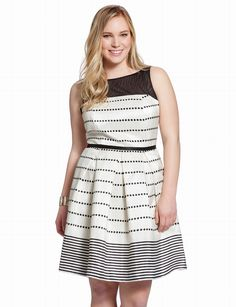 Polka Dot Ladylike Dress | Plus Size Date & Cocktail Dresses | eloquii by THE LIMITED- possible graduation dress!
