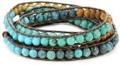 ShopStyle: Chan Luu Turquoise Mix Leather Wrap Bracelet!!