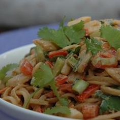 Chicken Noodle Salad with Peanut-Ginger Dressing - Allrecipes.com