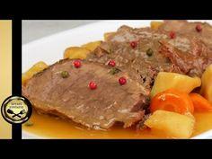 Λεμονάτο μοσχαρίσιο νουά κατσαρόλας. Κλασικό και αγαπημένο πιάτο! - ΧΡΥΣΕΣ ΣΥΝΤΑΓΕΣ - YouTube Top Round Roast Beef, Steak, Recipes, Food, Youtube, Meat, Food Food, Recipies, Essen