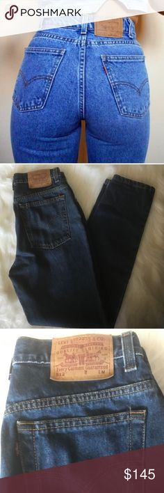 🦋 VINTAGE LEVI'S 512 HIGH WAISTED MOM JEANS SZ 8 🦋 Fabulous pair of dark blue Levi 512 high waisted mom jeans. Straight leg. Excellent condition. Size 8. Levi's Jeans Straight Leg