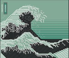 """""""Motherboard Earth"""" – Illustration Project by Alain Bousquet. the wave now a days japanese prints for a new generation"""