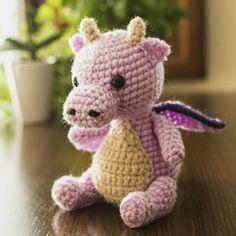 Patrón Bebé Dragón a Crochet