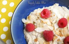 Happily Edible After: Coconut and Raspberry Millet Breakfast Porridge Breakfast Porridge, Eat Breakfast, Diet Recipes, Raspberry, Oatmeal, Brunch, Coconut, Vegan, Endometriosis Diet