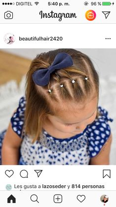 Easy Little Girl Hairstyles, Girls Hairdos, Girls Natural Hairstyles, Baby Girl Hairstyles, Pretty Hairstyles, Easy Toddler Hairstyles, Hair Due, Hair Styles, Hair Ideas