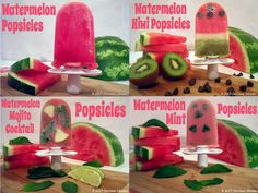 4 yummy Watermelon Popsicle Recipes #watermelon #popsicles #zoku