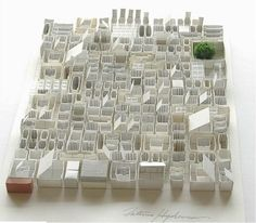 Japanese artist Katsumi Hayakawa creates three-dimensional landscapes out of paper and glue, 2011 Paper Architecture, Architecture Drawings, Architecture Models, Arch Model, Art Graphique, Japanese Artists, Color Theory, Tool Design, Installation Art