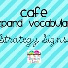 CAFE Expand Vocabulary Strategy Signs can be used with my Simple CAFE Headers.     Two strategy signs print per page. ...