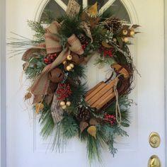 Holiday Wreath-Winter Wreath-Christmas Wreath for by ReginasGarden