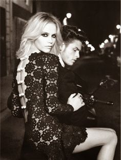 Natasha Poly photographed by Karl Lagerfeld for Numero wearing Valentino haute couture. The man is Baptiste Giabiconi. Natasha Poly, Outfit 2016, Glamour, Look Fashion, Fashion Beauty, Dress Fashion, Fashion Black, Couture Fashion, Fashion Clothes