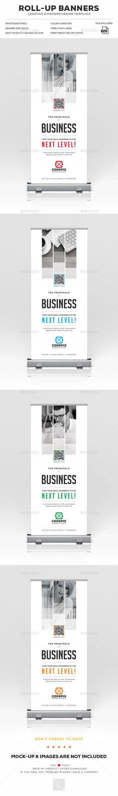 Corporate Roll-Up Banner Template PSD. Download here: https://graphicriver.net/item/corporate-rollup-banner/17543892?ref=ksioks