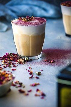 Rose and earl grey tea latte