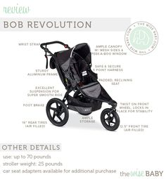 BOB Revolution review - our editor's expert review of one of the most popular jogging strollers!
