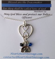 Blue Line Infinity Silver Necklace – heart2heartmessage