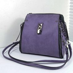Stylish Zippers and Lock Design Shoulder Bag For Women