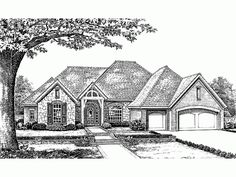 french country style 1 story 4 bedroomss house plan with 2570 total square - 1 Story French Country House Plans