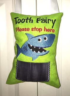 Baby Just Tooth Fairy Pillow Cat Handmade Novelty Birthday Gift Pocket Lost Tooth Birthday