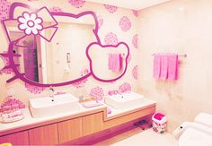 hello kitty bathroom....for my little someday... <3