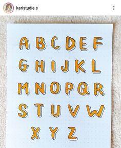 Bullet Journal Fonts Hand Lettering, Lettering Guide, Hand Lettering Alphabet, Creative Lettering, Types Of Lettering, Lettering Styles, Lettering Design, Bullet Journal Cover Ideas, Bullet Journal Banner