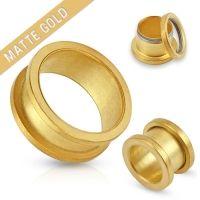 3 mm screw fit tunnel mat gold plated verkrijgbaar in diverse maten
