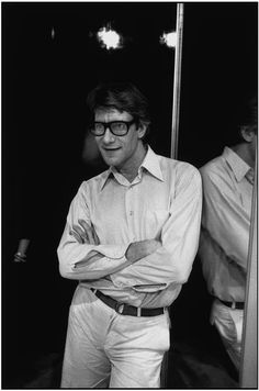 Yves SAINT-LAURENT * 1978 photo Martine Franck