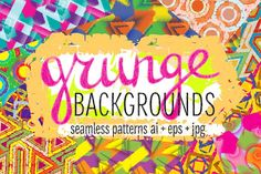 10 grunge colorful patterns by Guten Tag Vector on @creativemarket