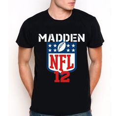 New Shirt Madden NFL 12 Custom Black T-Shirt Tee Size XS-XXL