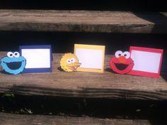 Sesame Street Menu Cards/  Food Tags/Food Tent Cards/Food Labels (12) on Etsy, $14.50