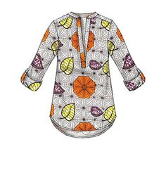 Sewing Top Cute pullover tops and tunics sewing pattern from McCall's. Sew these up in cotton shirtings. Misses' Henley Tops - African Tops, African Shirts, African Blouses, Diy Fashion No Sew, Fashion Sewing, Sew Your Own Clothes, Sewing Clothes, Latest African Fashion Dresses, African Print Fashion