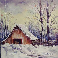 Tăt iarnă-i, tăt frig, zăpada-i tăt mai multă, da', așe-i că-i fain? O casă mică, o sobiță, căldură câtă trăbe, poate și o mâță la fereastră ... ? Mai sunt numa' 16 zile 🥰 Mai, House Styles, Painting, Home Decor, Decoration Home, Room Decor, Painting Art, Paintings, Painted Canvas