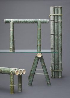 Stefan Diez's Soba bamboo furniture naturally changes colour over time