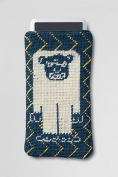 YETI!!!  Needlepoint iPhone/iPod Case from Lands' End