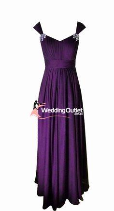 ROYAL PURPLE BRIDSMAID | Acai Purple Bridesmaid Dresses Style #A1029