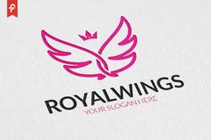 Royal Wings Logo by ft.studio on @creativemarket