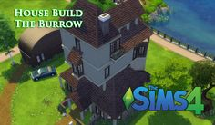 The Sims 4 -  House Build Harry Potter The Burrow #thesims4 #sims4 #sims4housebuild #sims4house #theburrow