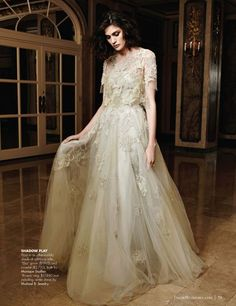 Monique Lhuillier spring 2015 Elsa Bridal Gown ft in Fall 2014 issue of Inside Weddings