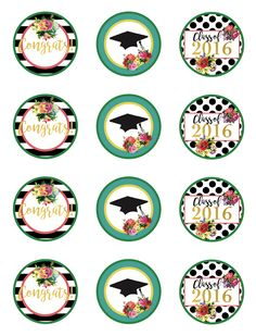Free 2016 Graduation Party Printables for the Girly Girl | Less Than Perfect Life of Bliss | home, diy, travel, parties, family, faith