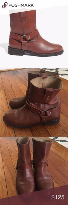 Madewell Devin Tread-Sole Harness Boots Chocolatey brown leather. Brand new, no box. Madewell Shoes Combat & Moto Boots