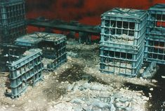 Scale Model Highrises from Plastic Storage Crates