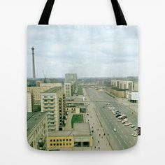 East Berlin Fernsehturm '69 Tote Bag by Friedas Glück - $22.00 Berlin, Reusable Tote Bags, Gifts