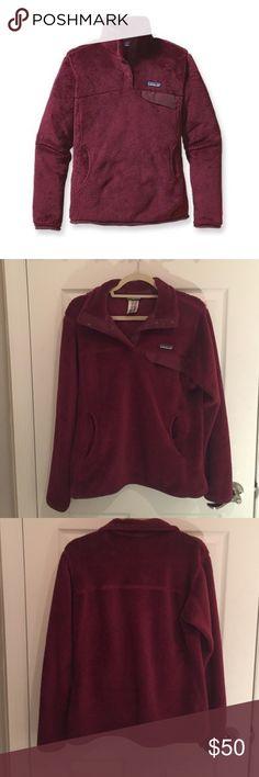 Patagonia ReTool Snap T Pullover Maroon fleece pullover by Patagonia Patagonia Tops Sweatshirts & Hoodies