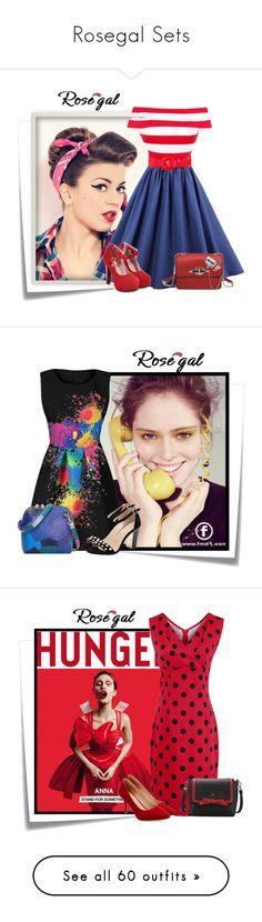 """Rosegal Sets"" by elenb ❤ liked on Polyvore featuring women, rosegal, Post-It, vintage, dress, FRUIT, L'Oréal Paris, Gucci, Boohoo and Oscar de la Renta"