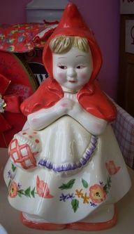 Cute Little Red Riding Hood cookie jar $30.00/Available at Jazz'e Junque in Chicago ~ www.jazzejunque.com