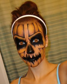 rotten pumpkin makeup