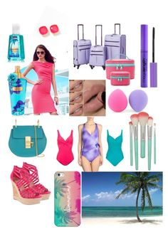 """Vacation time!✈"" by sequoiafaie ❤ liked on Polyvore featuring Lipsy, Chloé, Charles by Charles David, Casetify, Kate Spade, Earth Therapeutics, Speedo, Gottex, Lascana and Travelers Club"