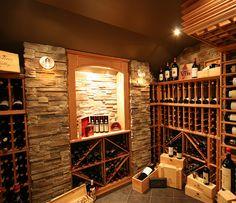 Belle exemple de cave à vin maison