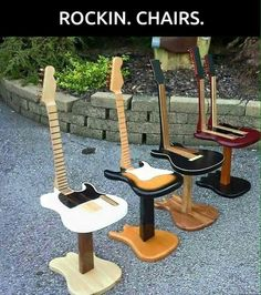 Guitar Shaped Chair Sand Chairs Target Guitars With Multiple Uses Get Comfortable And Ready To Play Some Tunes While Sitting In Your New Favorite Did We Mention That Is Made From A