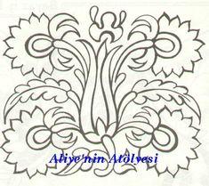 Cute Embroidery Patterns, Embroidery Designs, Outline Drawings, Pencil Art Drawings, Pattern Art, Pattern Design, Scandinavian Folk Art, Real Flowers, Design Crafts