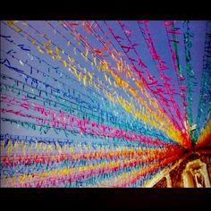 Barrio Fiesta. Fiesta Decorations, School Decorations, Paper Decorations, Fiesta Theme Party, Party Themes, 1st Birthday Parties, Birthday Party Decorations, 90th Birthday, Filipino Wedding Traditions
